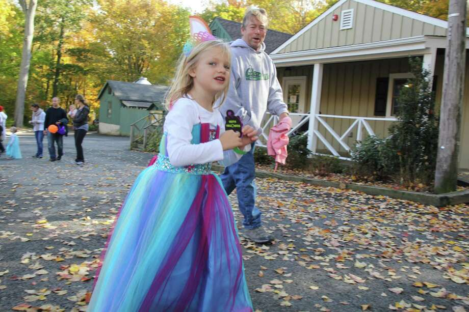 Kids sported their Halloween costumes a week early during the Stamford Museum and Nature Center's event Trick or Treat on Heckscher Farm on October 25, 2015. Were you SEEN? Photo: Derek T.Sterling, Hearst Connecticut Media Group