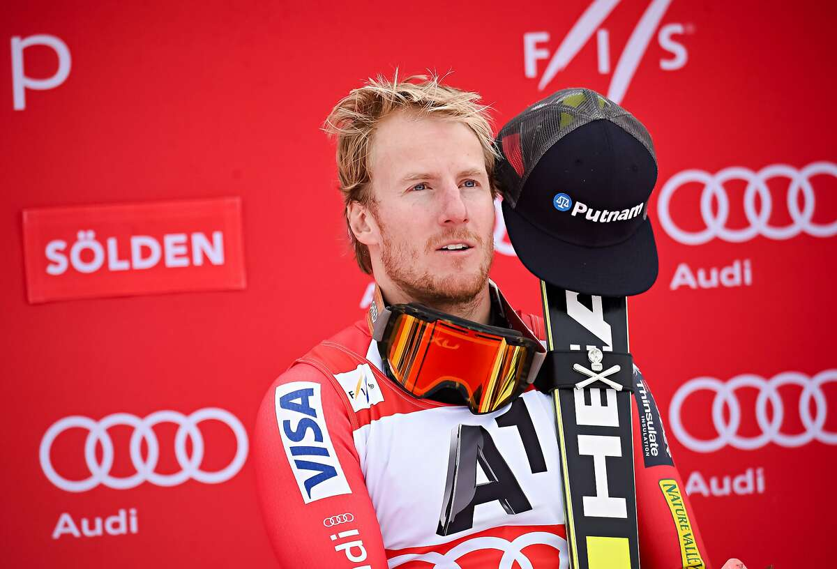 SOLDEN, AUSTRIA - OCTOBER 25: (FRANCE OUT) Ted Ligety of the USA takes 1st place during the Audi FIS Alpine Ski World Cup Men's Giant Slalom on October 25, 2015 in Soelden, Austria. (Photo by Michel Cottin/Agence Zoom/Getty Images)