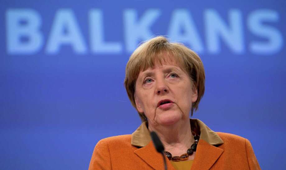 """Exceptional times de- mand exceptional mea- sures,"" German leader Angela Merkel said. Photo: Virginia Mayo /Associated Press / AP"