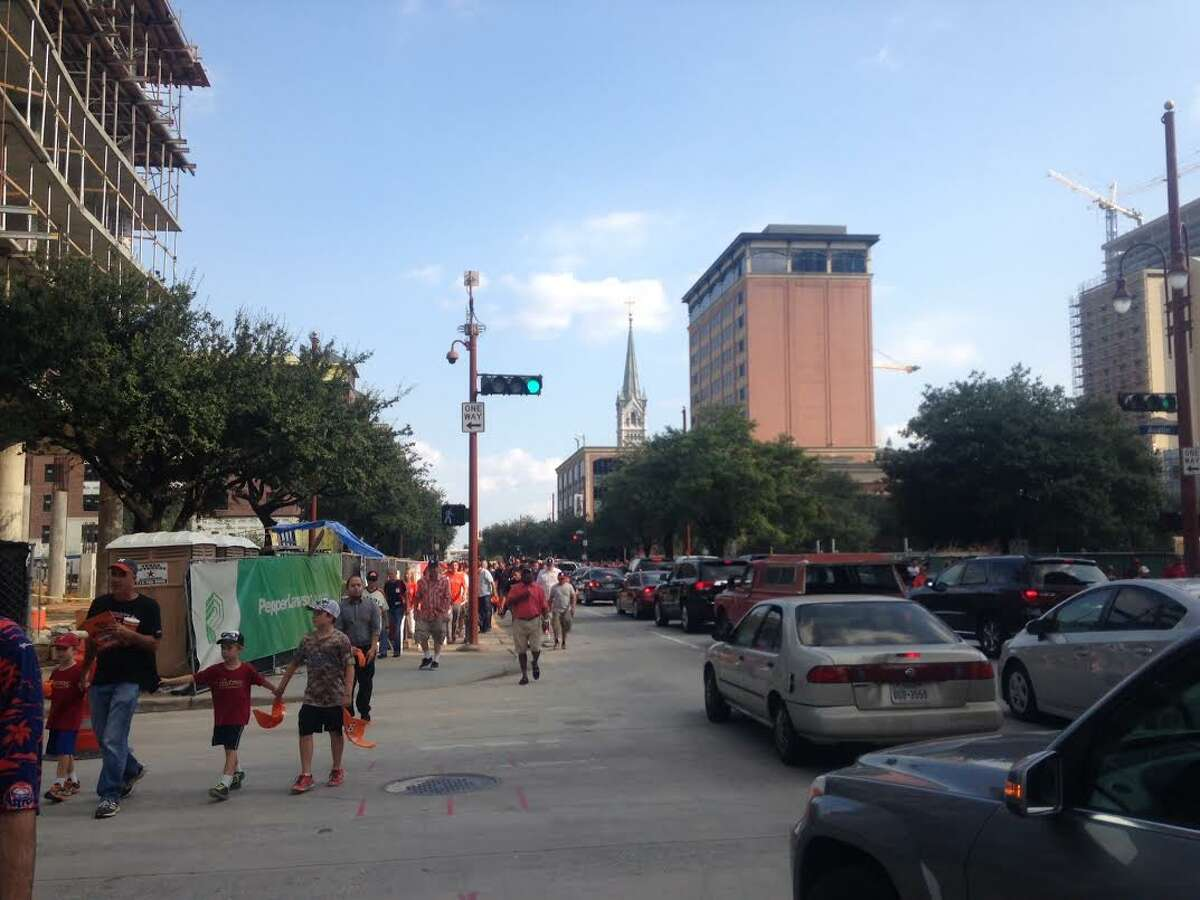Fans leaving Minute Maid Park during the playoff series against the Kansas City Royals this month saw the unmistakable signs of development with construction zones, scaffolding and cranes around the area.