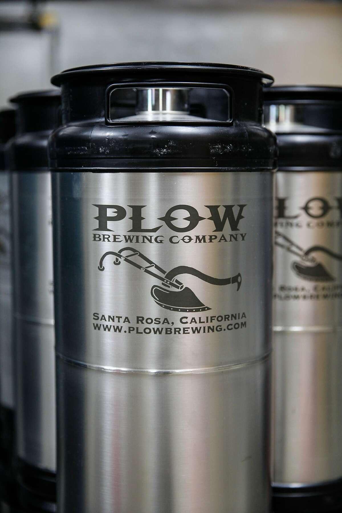 Beer brewed at Plow in Santa Rosa, Calif., on Wednesday, October 21, 2015.