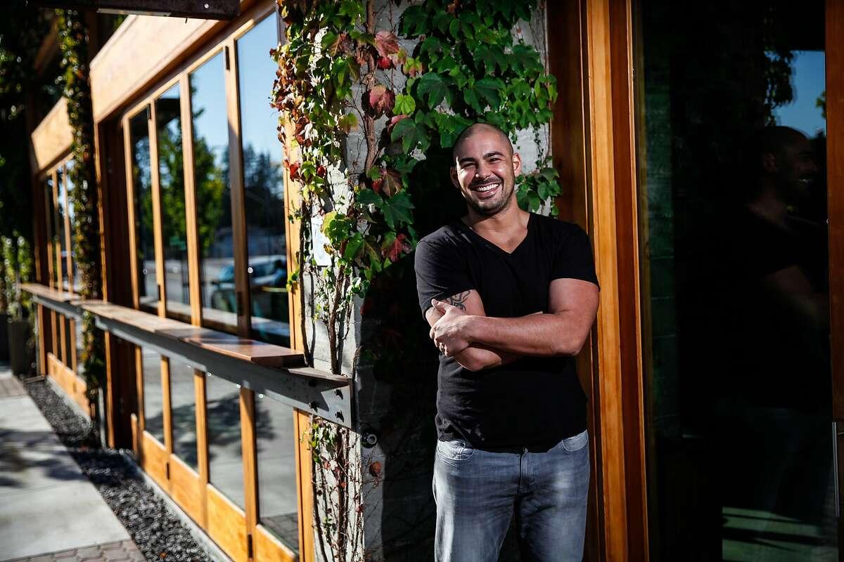 Louis Maldonado of Spoonbar in front of the restaurant in Healdsburg, Calif., on Thursday, October 22, 2015.