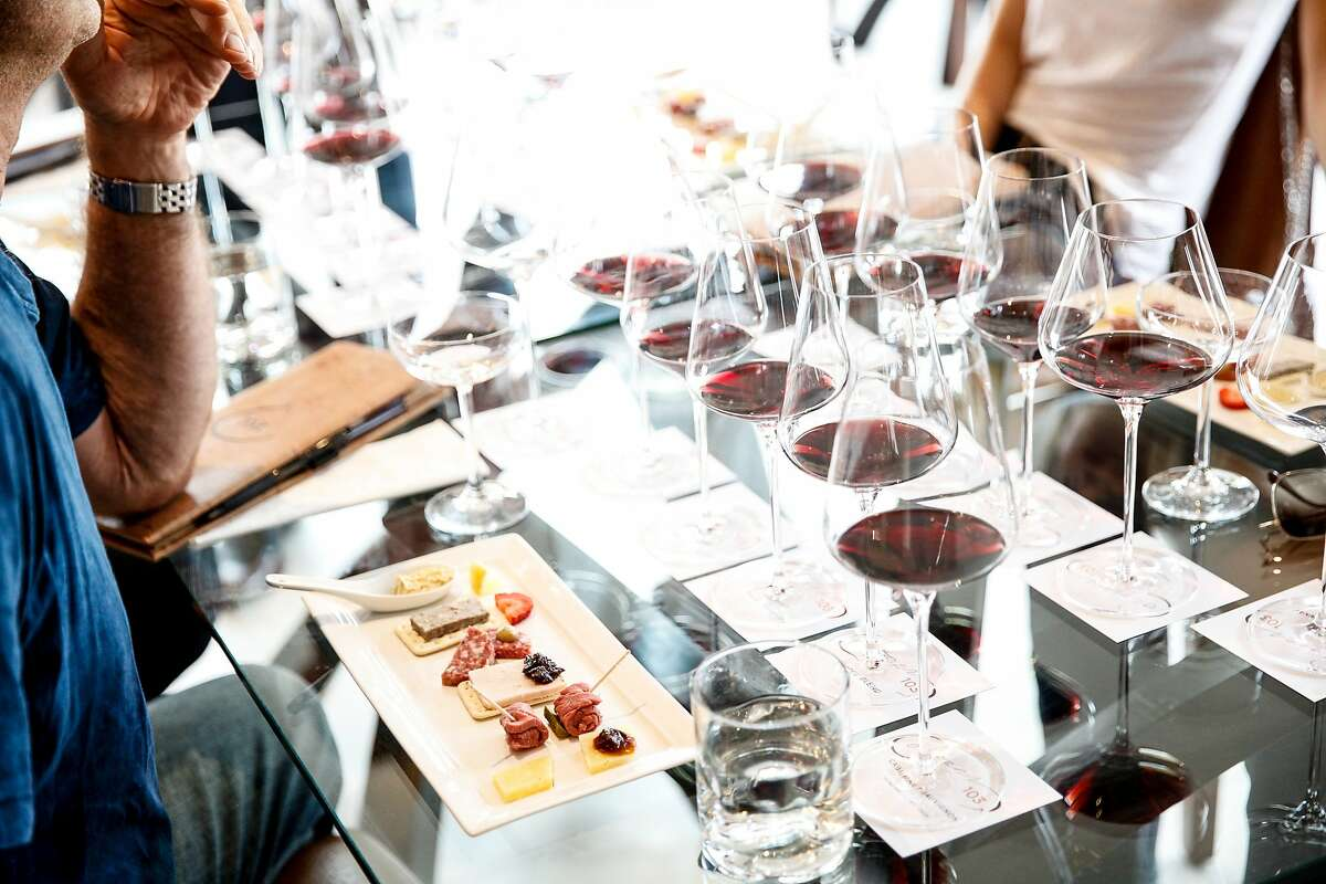 A food and wine pairing at Corner 103 in Sonoma, Calif., Friday, October 23, 2015.