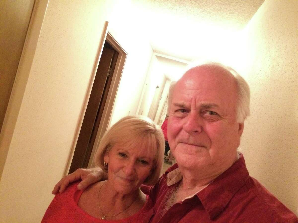 Roberta and Bob Frederick in the hallway of their home in October 2015. Roberta claims to have heard unexplained footsteps in the hallway back in 1977 on several occasions, along with experiencing unexplained rapid hitting on the back of her sofa and strange cold spots in the home.