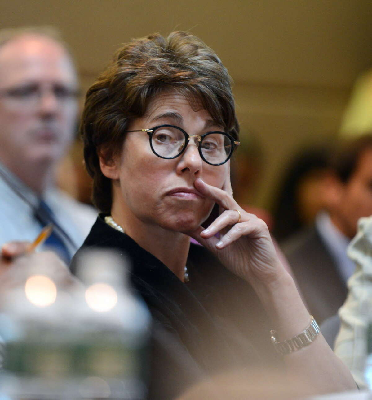 Regents Chancellor Merryl Tisch listens to comments during a Board of Regents meeting Monday afternoon, June 15, 2015, at the State Education Building in Albany, N.Y. (Will Waldron/Times Union)