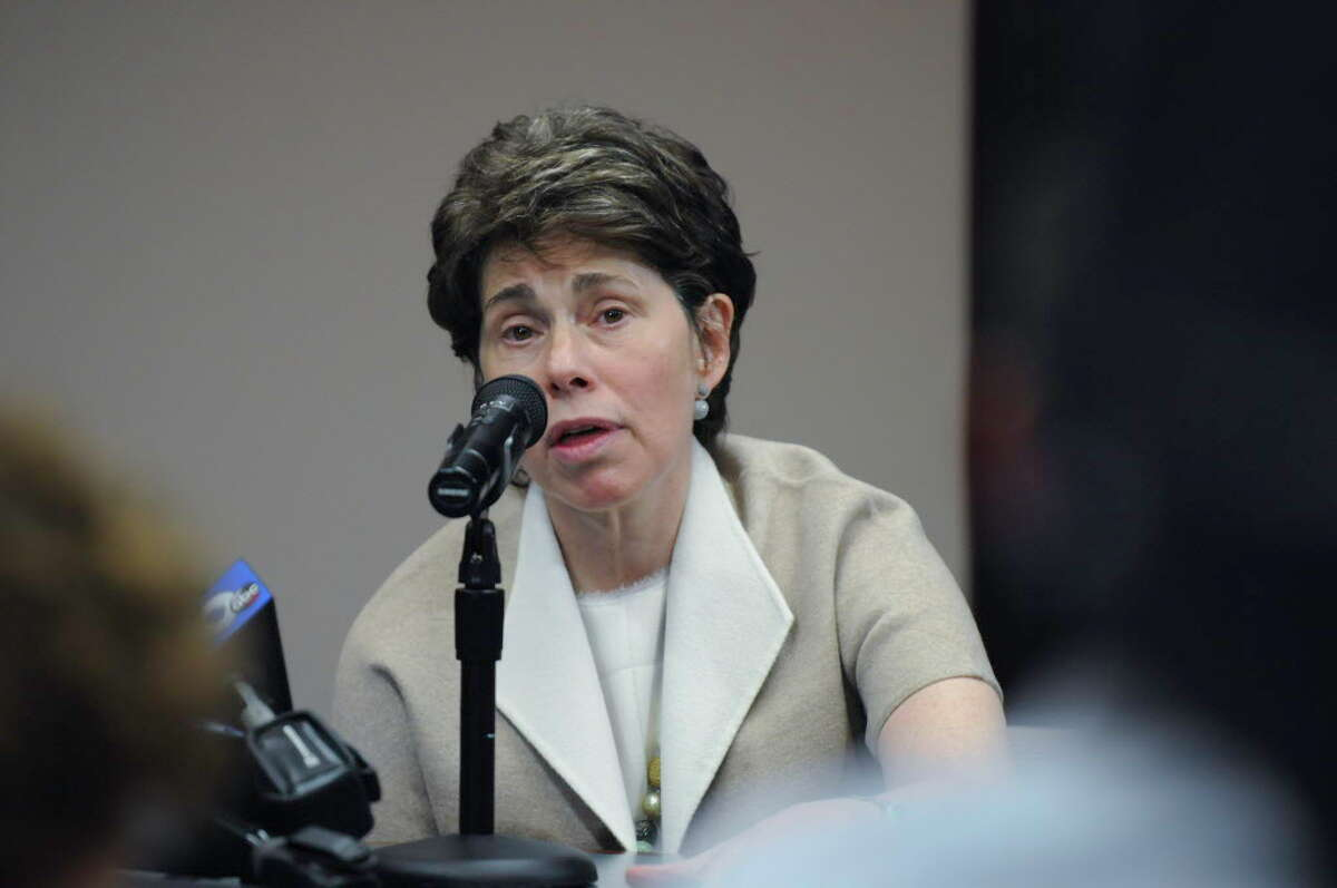 Board of Regents Chancellor Merryl H. Tisch answers questions during a press conference where MaryEllen Elia was named New York State Educaiton Commissioner Tuesday afternoon, May 26, 2015, at the State Education Building in Albany, N.Y. (Olivia Nadel/ Special to the Times Union)