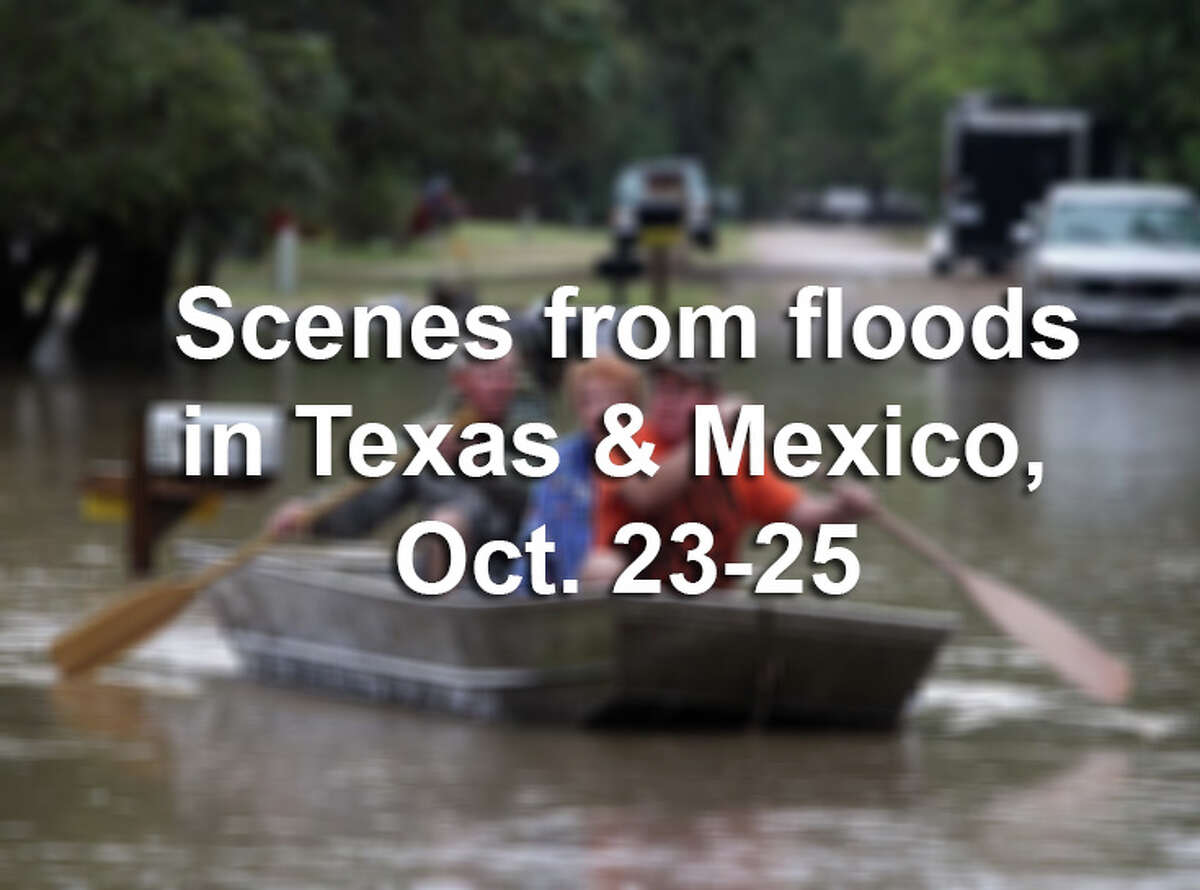 Scroll through the slideshow to see photos from floods that hit Texas and Mexico on Oct. 23-25, 2015.