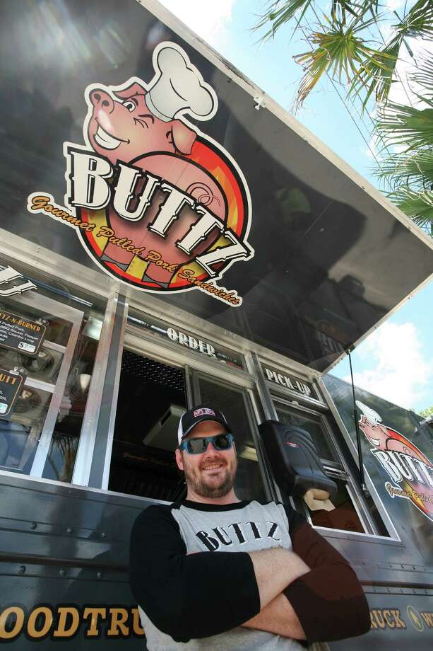 Last week Garrett Blinn, owner of the Buttz Food Truck here in Houston, says that he lost out on what could have been a lucrative opportunity with a Houston Independent School District school because the name of his truck and the food he sells ran the risk of offending some people.  Photo: Susan Alexander, Garrett Blinn
