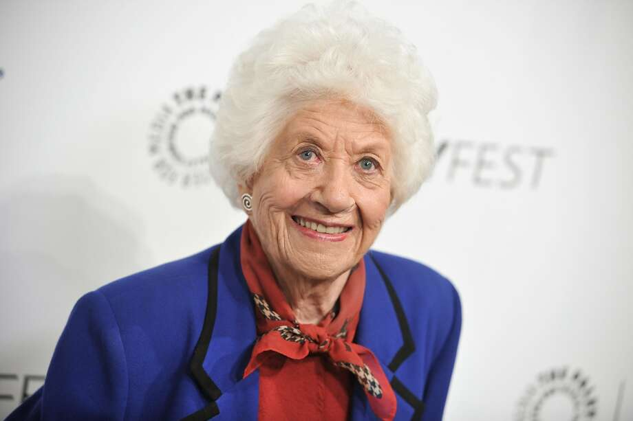 "In her autobiography, Charlotte Rae, shown in 2014 at ""The Facts Of Life"" reunion in Beverly Hills, Calif., said that her own life bore little resemblance to the sitcom-grade serenity of her character, Edna Garrett. Photo: Richard Shotwell, Associated Press"