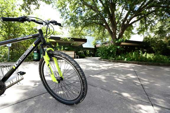 Bicycles are not allowed on the interior trails in The Houston Arboretum & Nature Center.