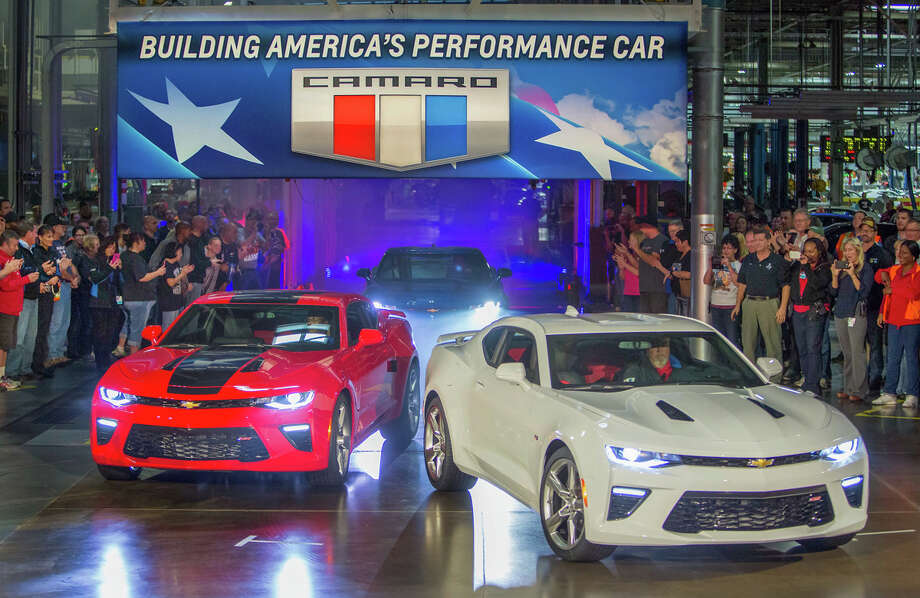 Chevrolet rolls out the 2016 Camaro Monday, October 26, 2015, as it announces the Camaro will begin shipping to dealers from General Motors' Lansing Grand River Assembly later this week in Lansing, Michigan. The first vehicles delivered to customers will be coupes – SS or LT models with the 3.6L V-6. The Camaro Convertible and models with the 2.0L Turbo engine will begin shipping in early 2016. Photo: Jeffrey Sauger, Chevrolet / © 2015 Jeffrey Sauger and General Motors. This image is protected by copyright but provided for editorial and social media use. The use of this image for advertising, marketing, or any other commercial purposes is prohibited.