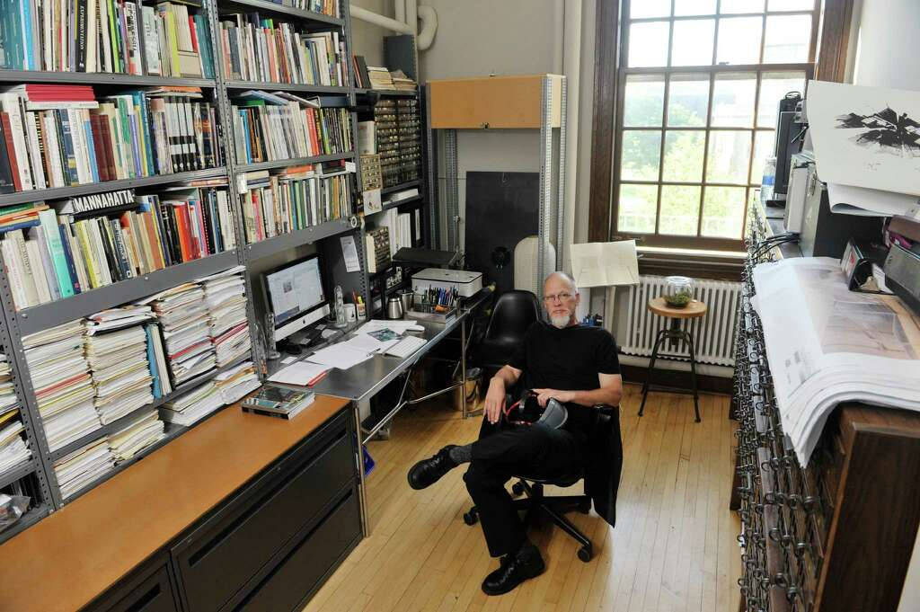 Etonnant RPI Associate Professor Of Architecture, Ted Krueger Poses In His Office On  The College Campus