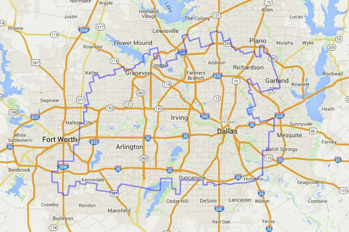 The Dallas-Fort Worth metroplex is no match for the Waggoner Ranch. Note: a number of factors - including mapping techniques, elevation, different latitudes and surface area - distort the shape of Waggoner Ranch as it moves around the globe. Distances and surface areas are magnified at higher latitudes, according to MAPfrappe, thus the ranch cannot be directly compared to other areas on the globe.
