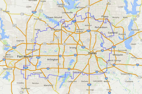 Map: The Waggoner Ranch is really, really big, y\'all - San Antonio ...
