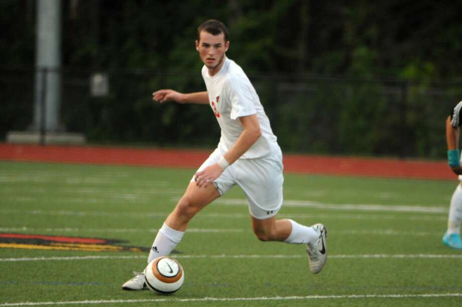 Nick Bartels, a Greenwich High School senior, was selected to play in the High School All-American Soccer Game in Raleigh, N.C., on Dec. 5. Photo: Keelin Daly /Hearst Connecticut Media Group