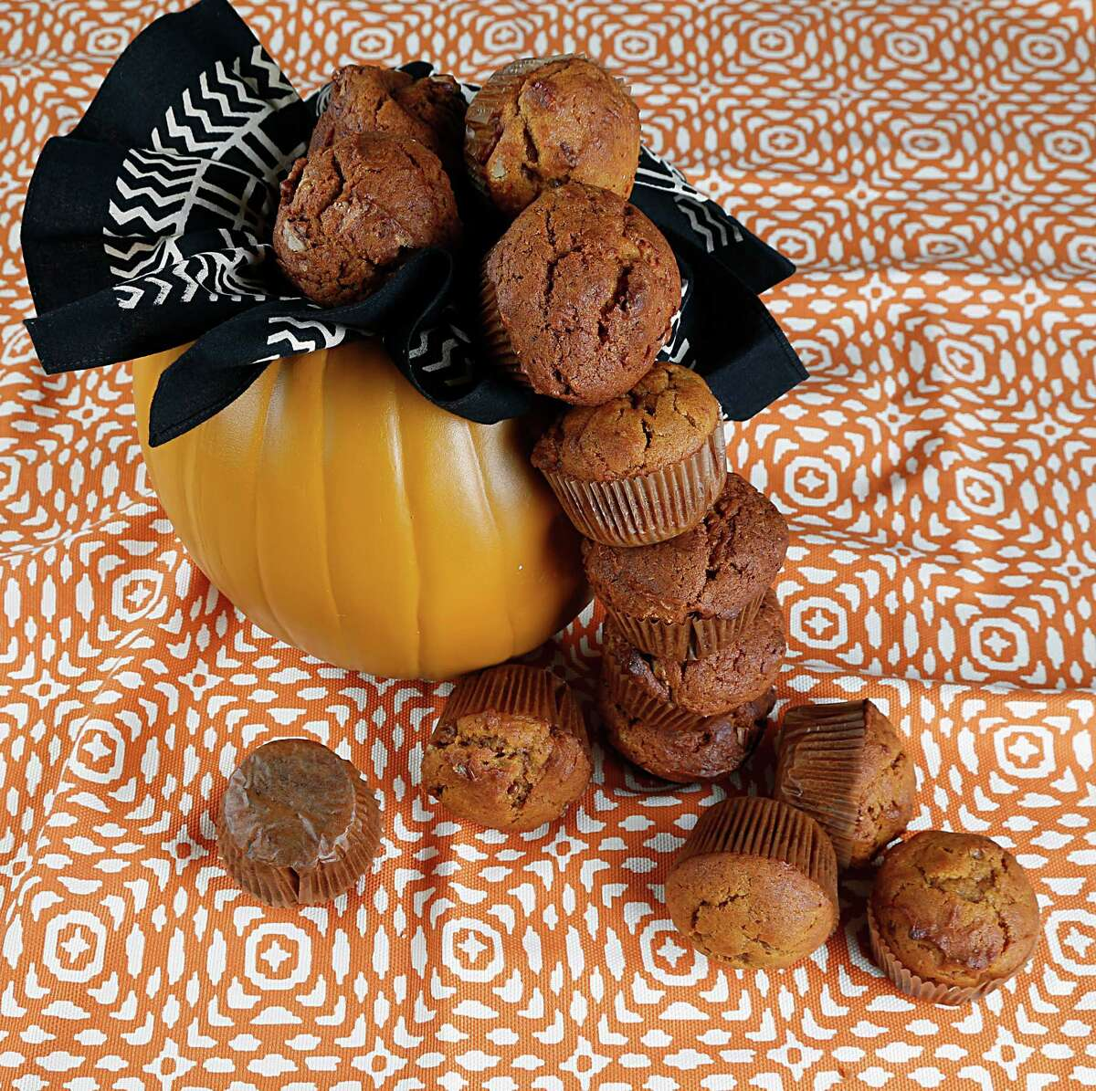 Pudding mix adds rich flavor to the batter for Pumpkin Muffins.