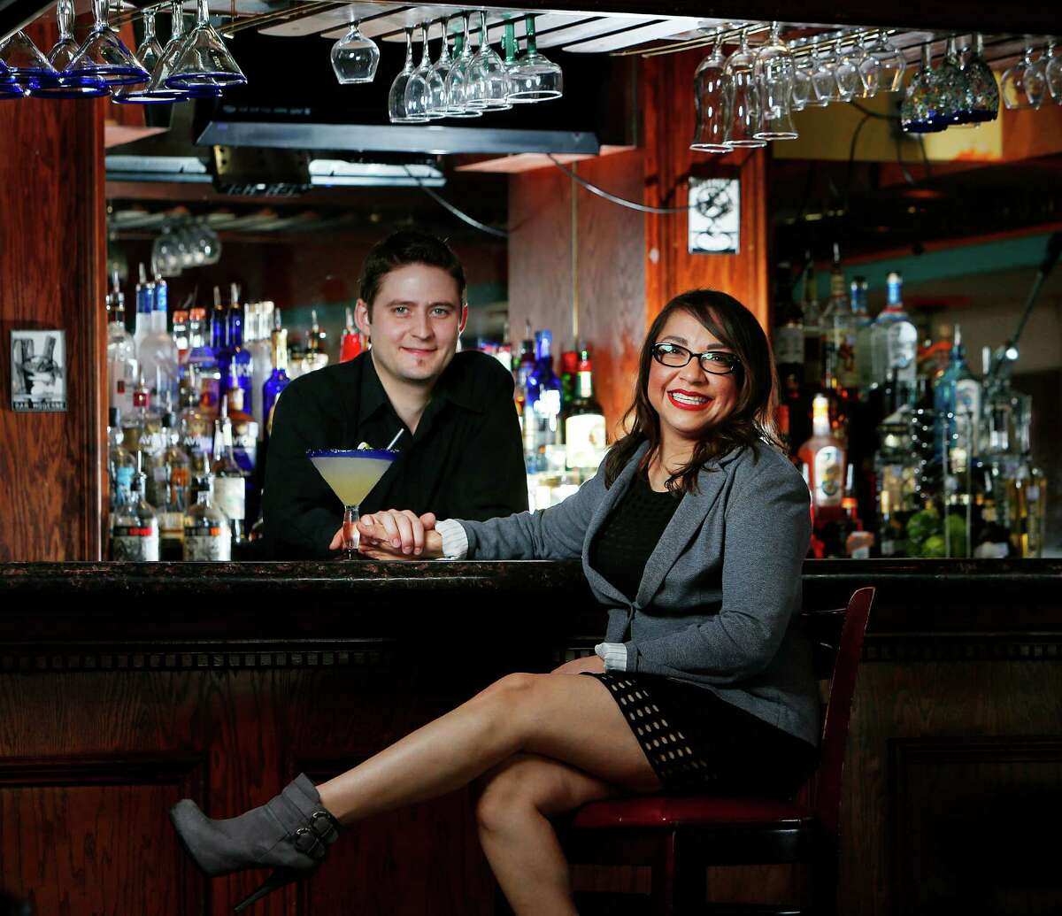Vanessa Lomeli (right) and Ben Downing inside their restaurant Habanera and the Gringo.
