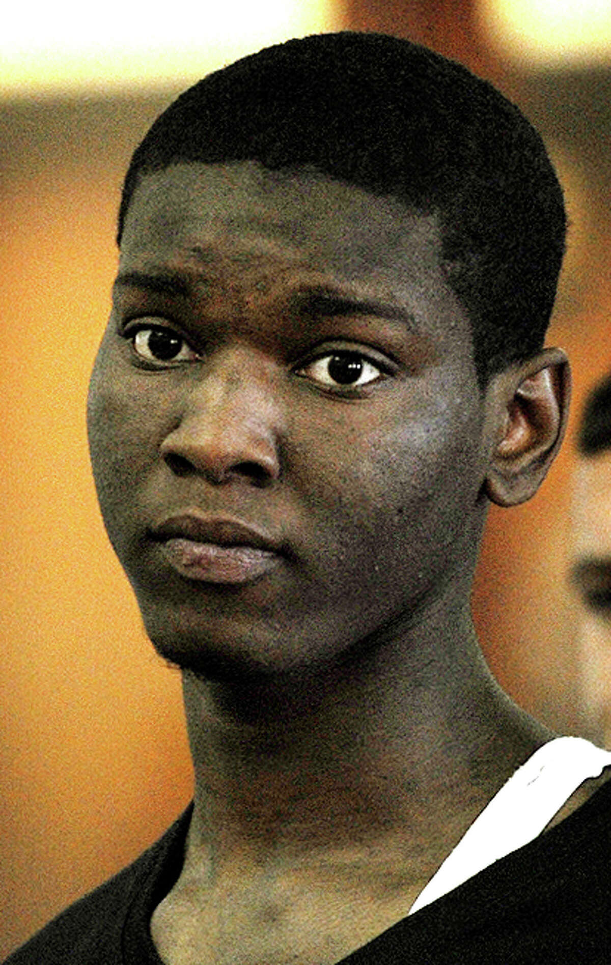Roderick Rogers, 19, was found guilty of murder, conspiracy to commit murder and four counts of first-degree assault in Bridgeport, Conn. on Monday, Oct. 26, 2015.