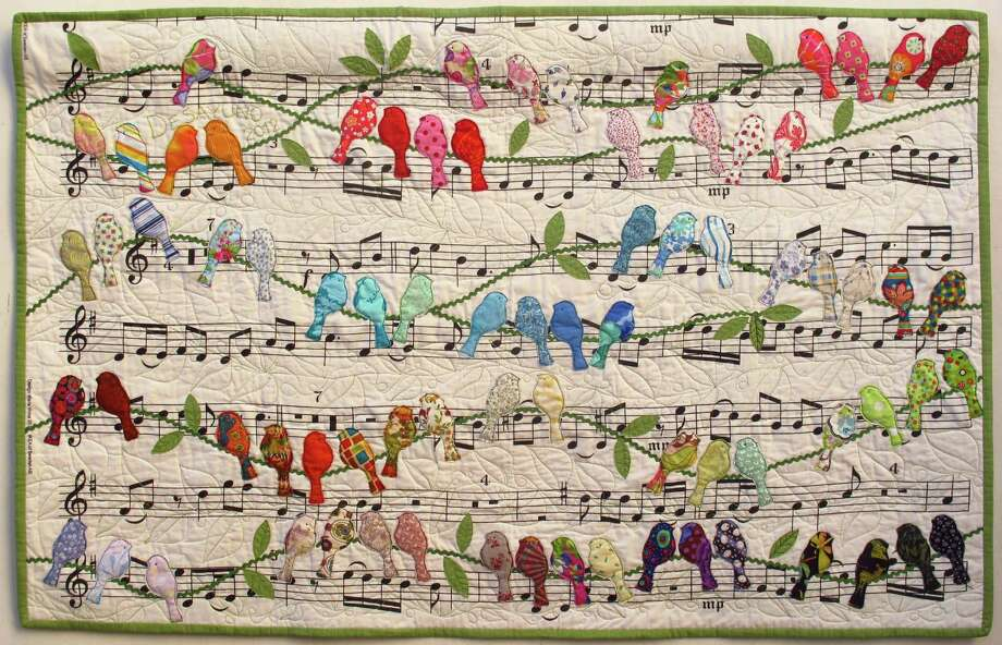 """""""Birds"""" by Cecilia Koppmann, from the special exhibit """"Hands All Around 2015."""" Photo: Quilts Inc."""