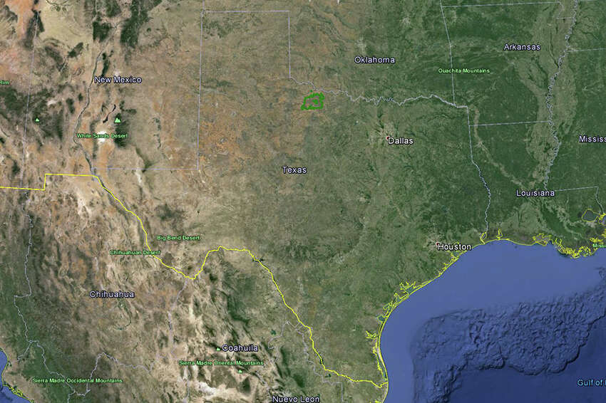 How big is Waggoner Ranch (highlighted in green)? Really big. Scroll through the slideshow to see how the 800-square-mile, $725 million estate stacks up against major U.S. cities and states.