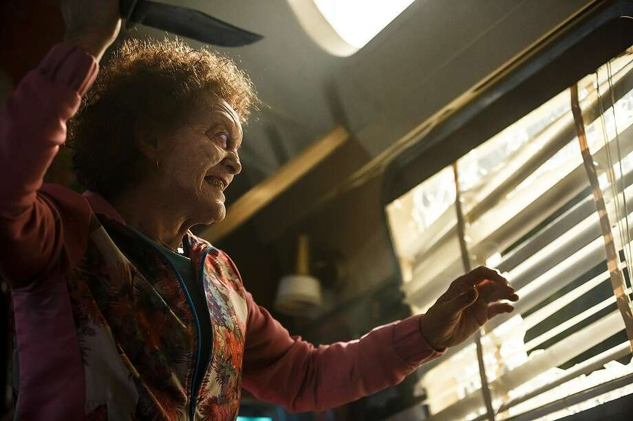 "Sian Davis as Mrs. Johnson in ""Ash vs. Evil Dead."" Photo: Courtesy Starz"
