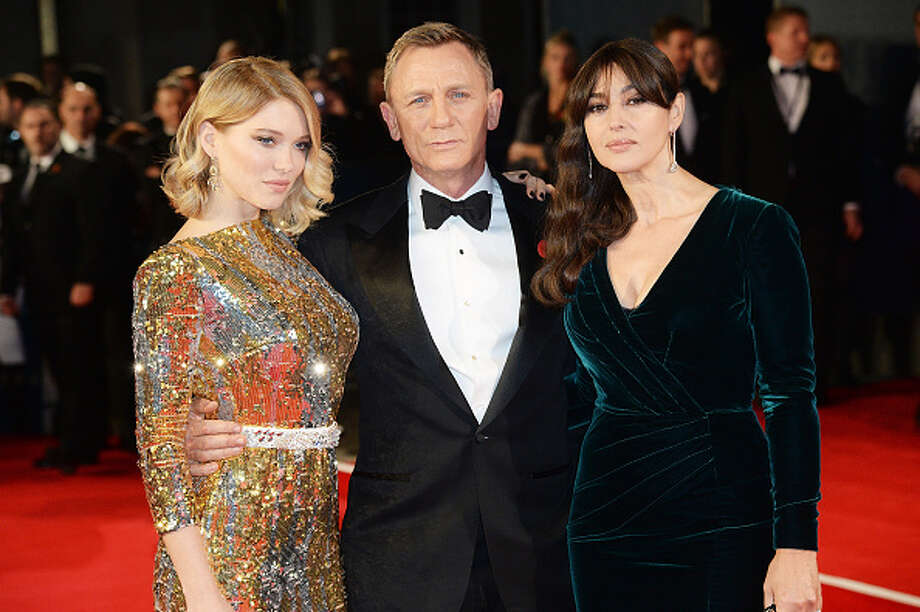 (L-R) Lea Seydoux, Daniel Craig and Monica Bellucci attend the Royal World Premiere of 'Spectre' at Royal Albert Hall on October 26, 2015 in London, England.  (Photo by Dave J Hogan/Dave J Hogan/Getty Images) Photo: Dave J Hogan, 2015 Dave J Hogan / 2015 Dave J Hogan