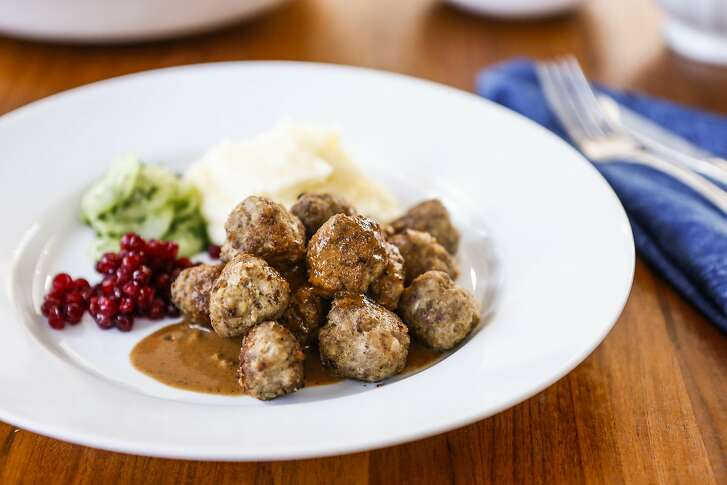 Swedish Meatballs by Perbacco chef/owner Staffan Terje are seen in his home kitchen on Monday, Oct. 26, 2015 in Oakland, Calif.