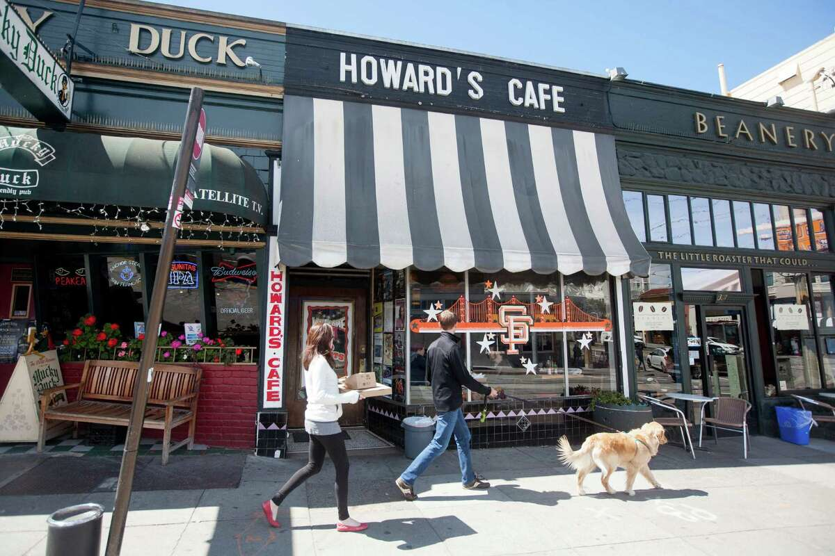 The exterior of the Howard's Cafe in San Francisco.