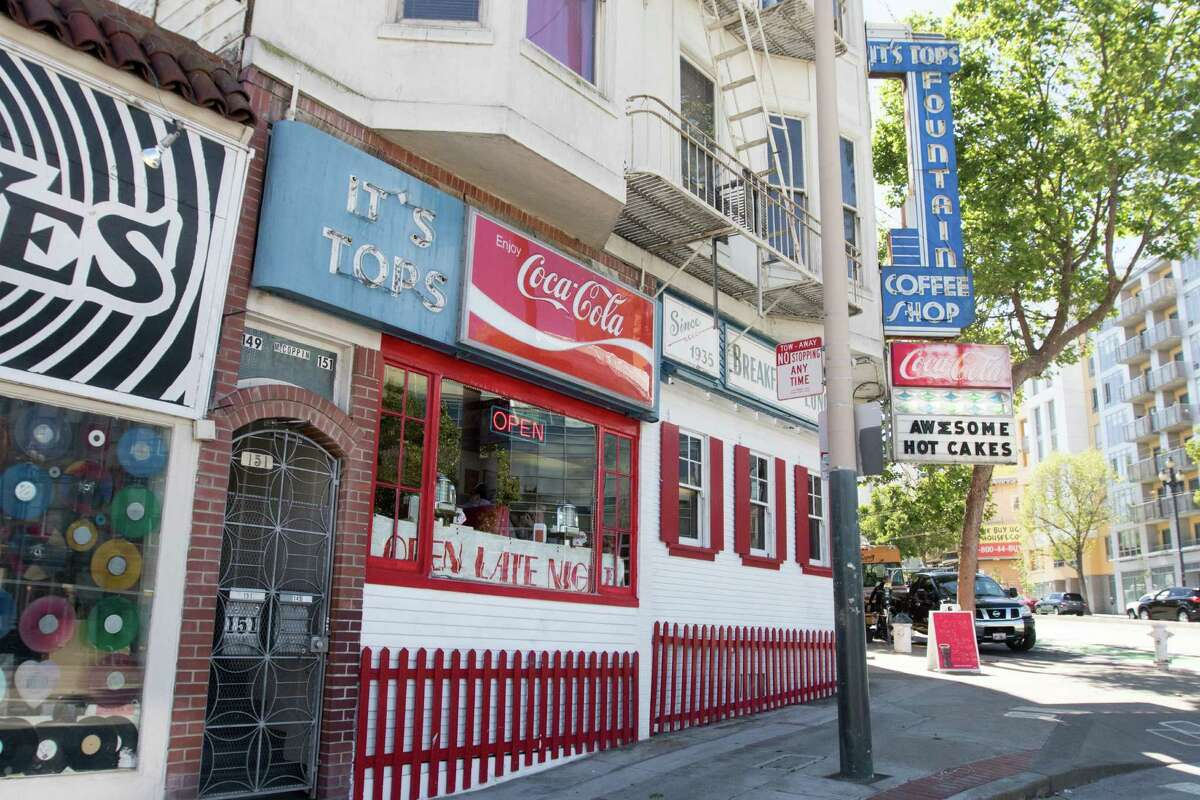 The exterior of It's Tops Cafe in San Francisco.