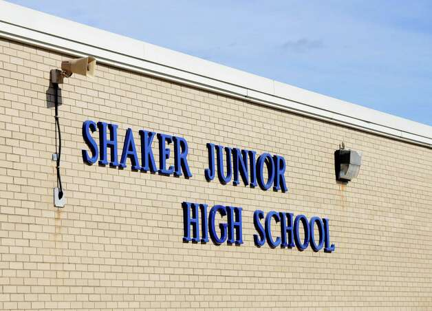 Exterior of Shaker Junior High School Monday, Oct. 26, 2015, in Colonie, N.Y.  (Will Waldron/Times Union) Photo: Will Waldron / 00033940A