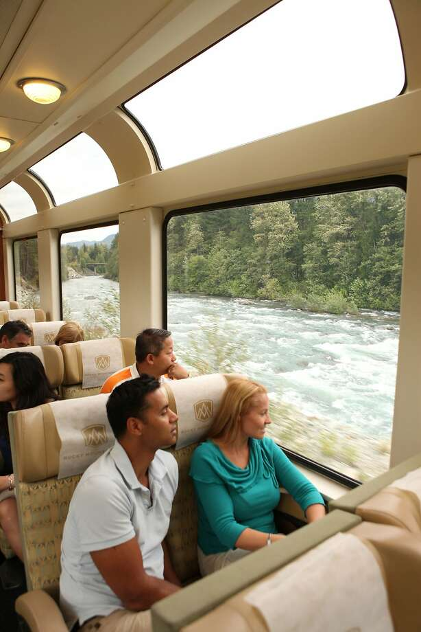 Left: Large windows allow passengers on the Rocky Mountaineer to enjoy panoramic views of the Canadian wilderness. Photo: Rocky Mountaineer