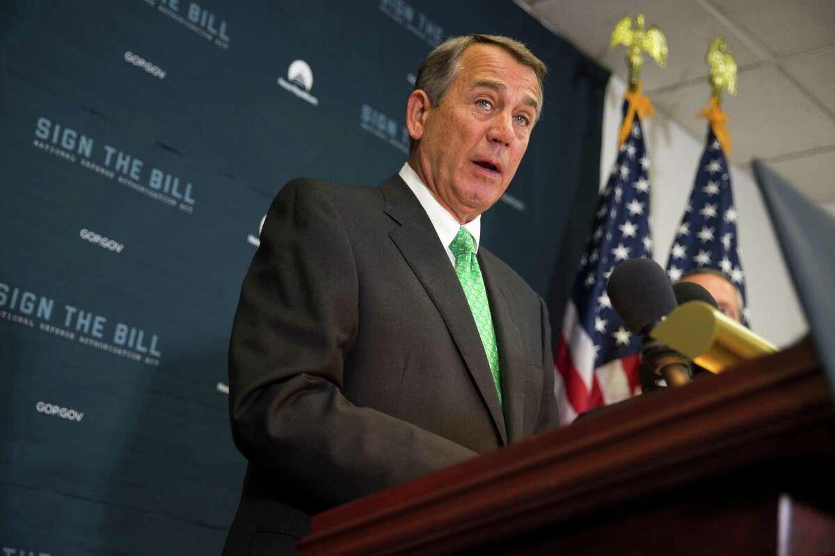 Former Speaker of the House John Boehner, (R-Ohio) Aug. 27, 2015:
