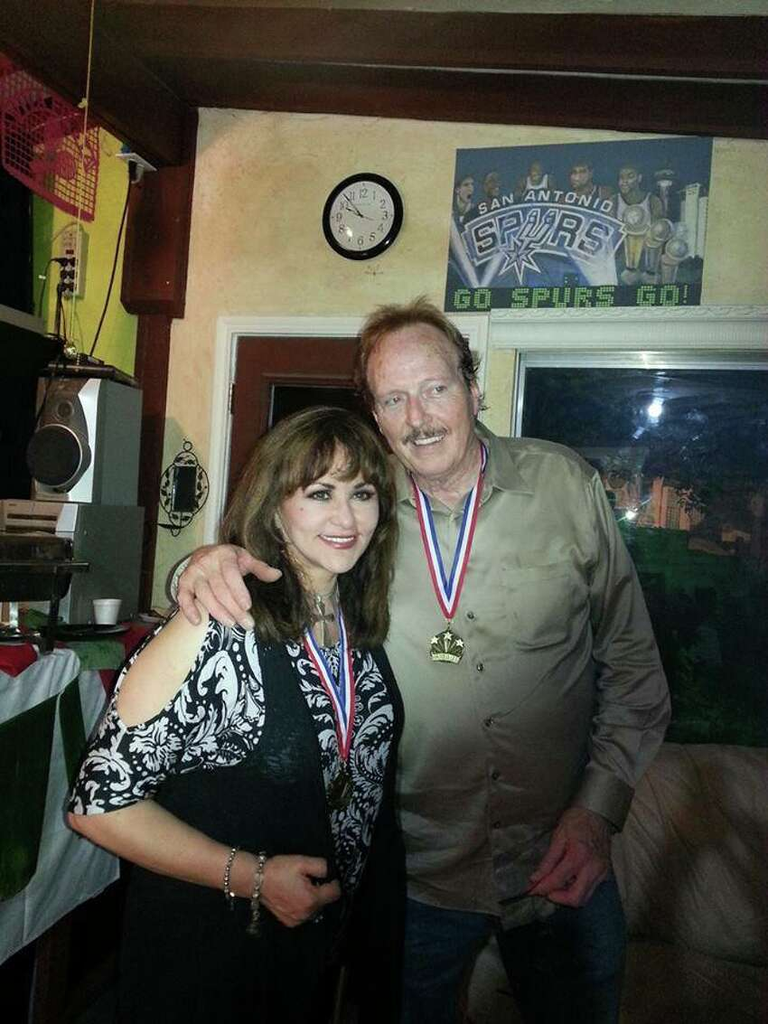 Johnny Shannon with popular S.A. singer Patsy Torres.
