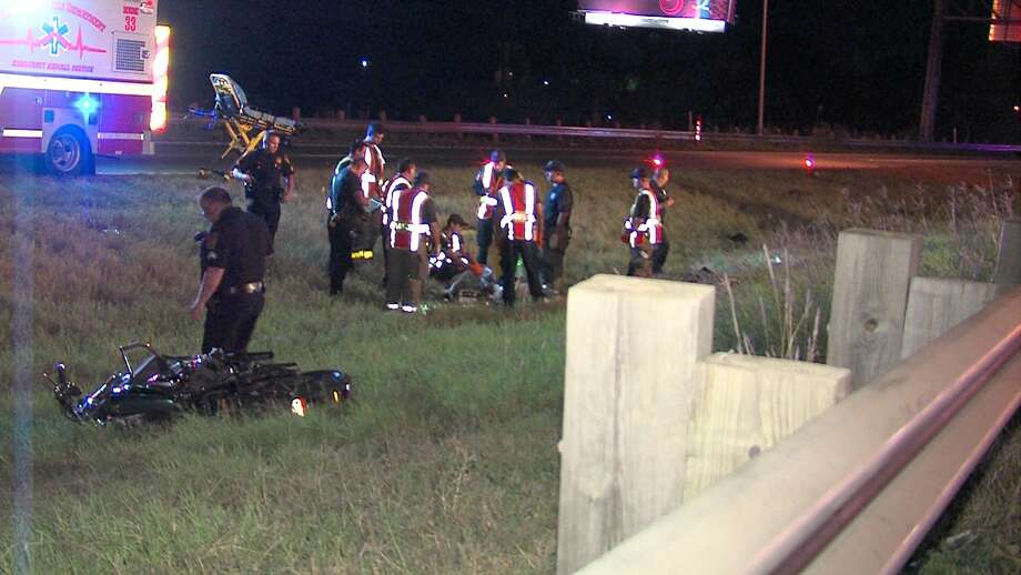 A motorcyclist died Tuesday morning after crashing on Highway 90 on the West Side, according to police. Photo: 21 Pro Video