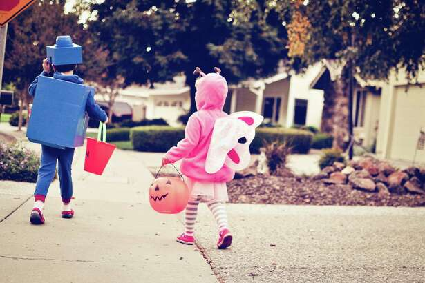 Young Children Trick or Treating