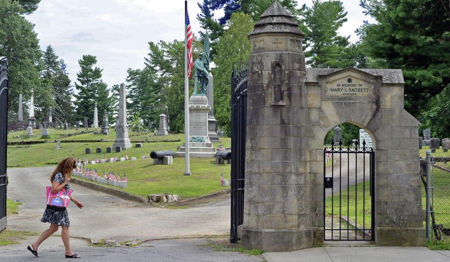 Entrance to Greenridge Cemetery Saturday July 25, 2015 in Saratoga Springs, NY.  (John Carl D'Annibale / Times Union) Photo: John Carl D'Annibale / 00032751A