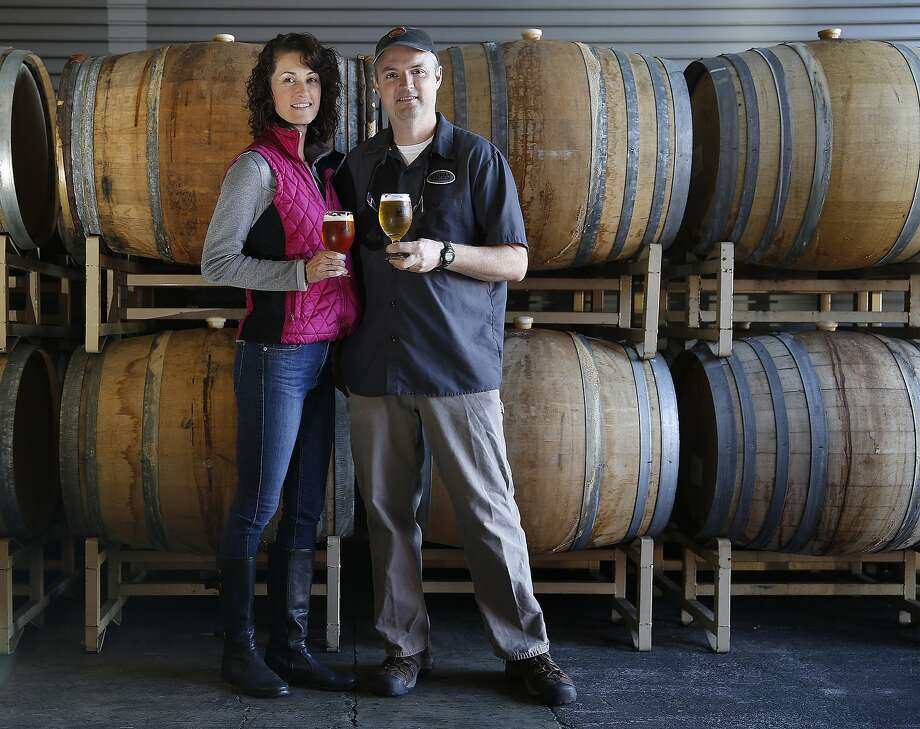 Natalie and Vinnie Cilurzo are now the sole owners of the Russian River Brewing Company. Photo: Liz Hafalia, The Chronicle