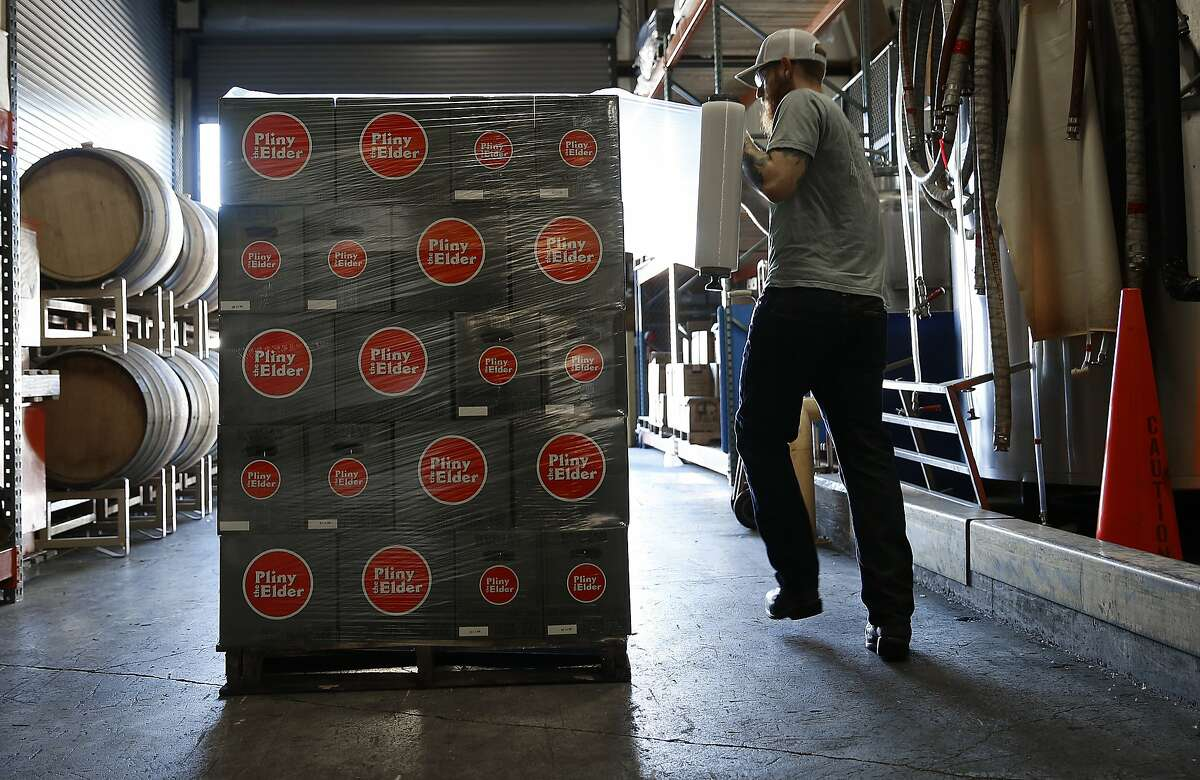 Pliny the Elder, ready to roll, at the production plant.