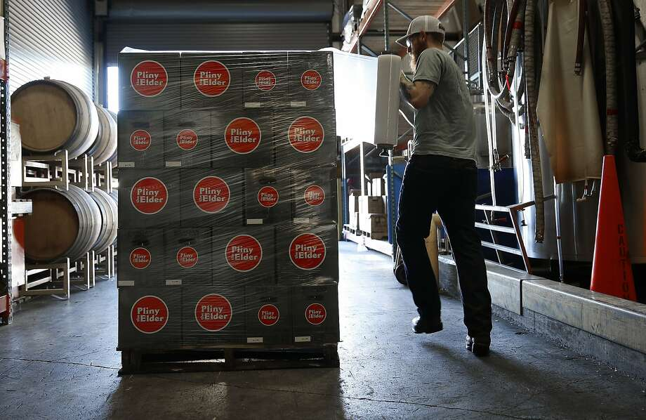Pliny the Elder, ready to roll, at the production plant. Photo: Liz Hafalia, The Chronicle