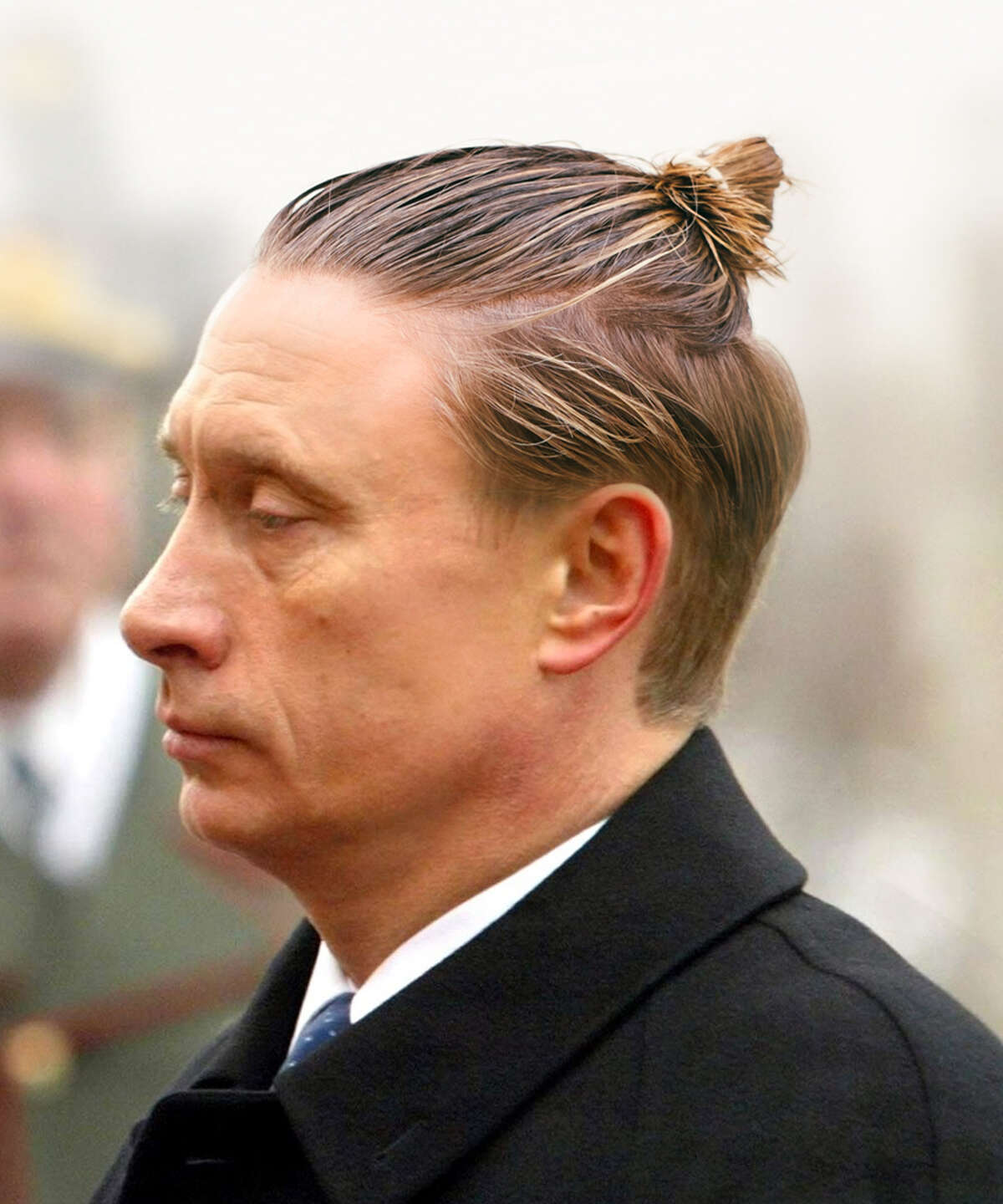 The winning man bun - Vladimir Putin.