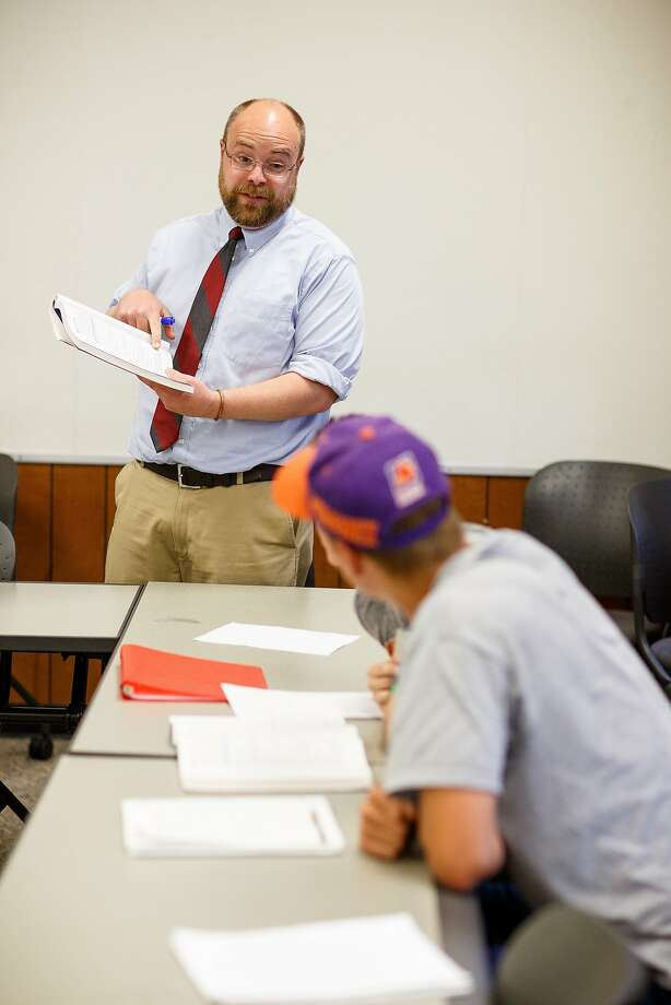 St. Mary's Spanish Professor and Honors Program Director David Bird teaches a class. Photo: Saint Mary's College Of Calif. /