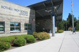 Bothell High School, pictured in a school district photo.
