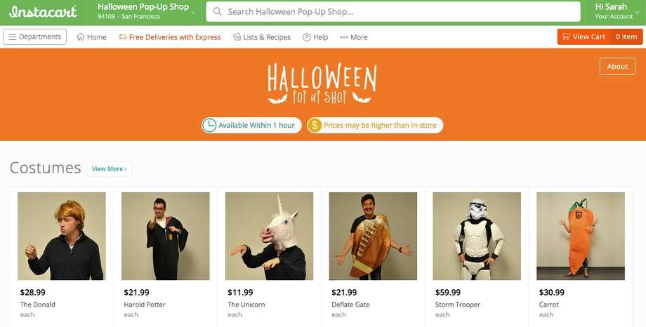 Instacart delivers last-minute Halloween costumes - SFGate