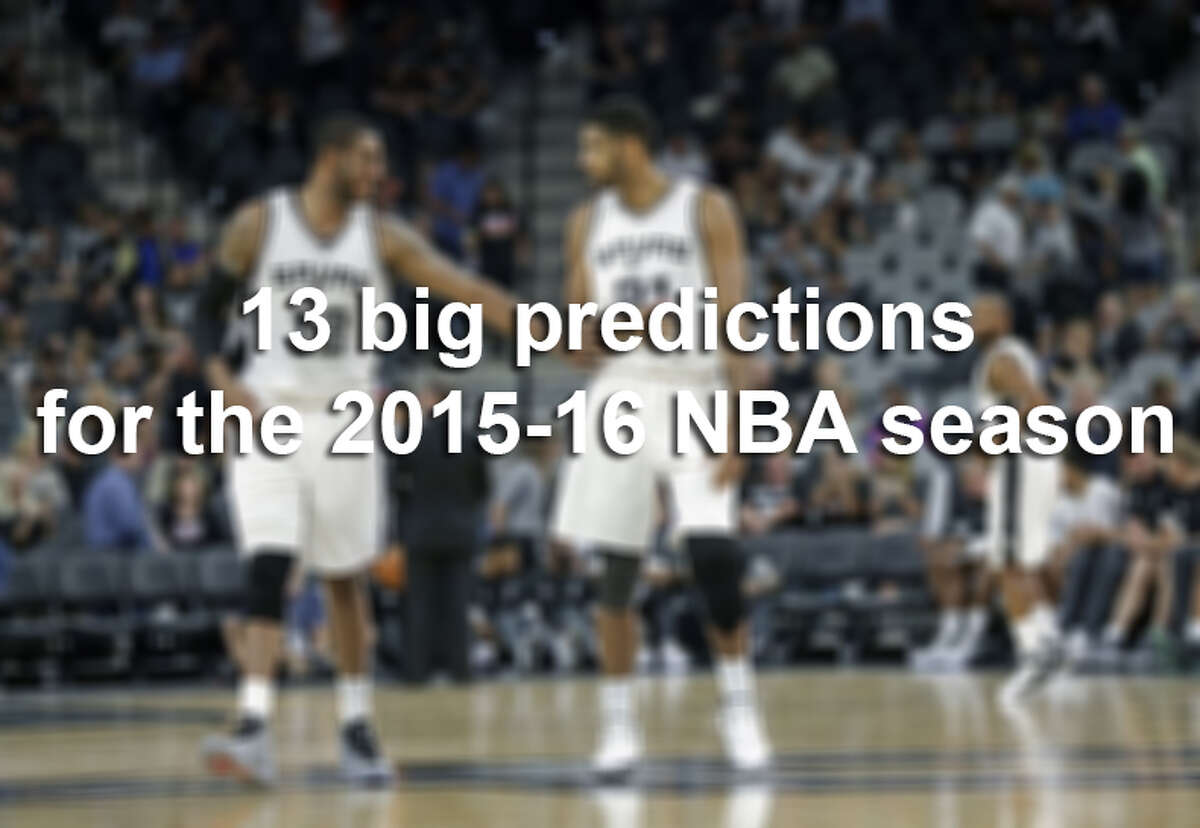 Our Spurs experts Buck Harvey, Jeff McDonald, Mike Monroe, Tom Orsborn and Jabari Young gaze into their crystal ball to give us 13 predictions for the season.