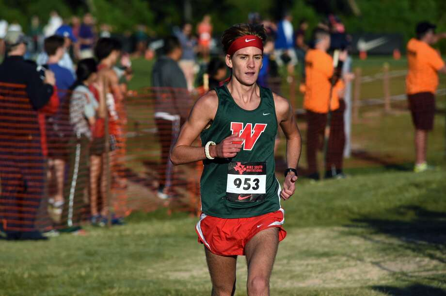 The Woodlands senior Daniel Golden competes in the Varsity Elite Boys race during the Nike South XC Invitational at Bear Branch Park in The Woodlands on Oct. 3, 2015. (Photo by Jerry Baker/Freelance) Photo: Jerry Baker, Freelance