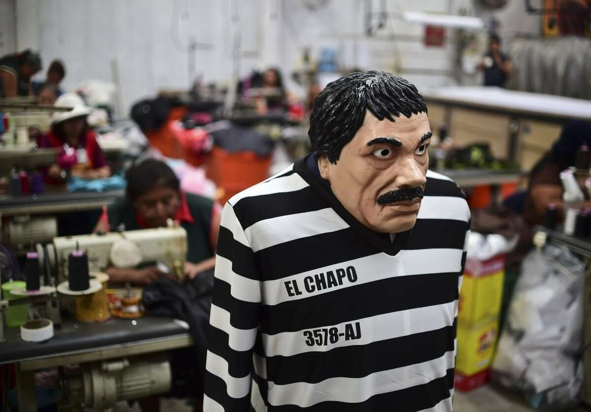 "Sinaloa Cartel head ""Joaquín 'El Chapo' Guzmán"" who escaped from prison in July."