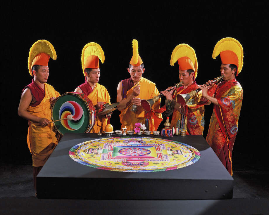 The Tibetan Lamas of Drepung Loseling Monastery will create a sacred sand mandala and facilitate several guest lectures and community activities at the San Jacinto College South Campus Nov. 9-13. Photo: Submitted