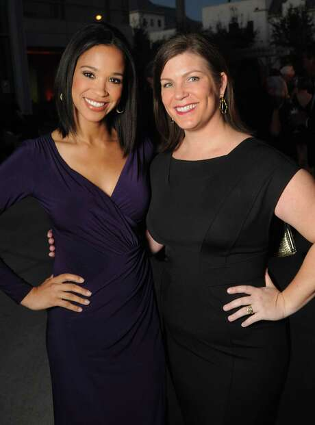 Mia Gradney and Lauren Levicki at the Cuisine for a Cause fundraiser at the Dress for Success building Saturday Oct. 17,2015.(Dave Rossman photo) Photo: Dave Rossman, Freelance / Freelalnce