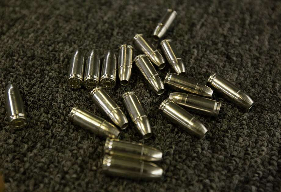 9mm rounds sit ready to fire at the Athena Gun Club target range in Houston.  ( J. Patric Schneider / For the Chronicle ) Photo: J. Patric Schneider, Freelance / © 2014 Houston Chronicle
