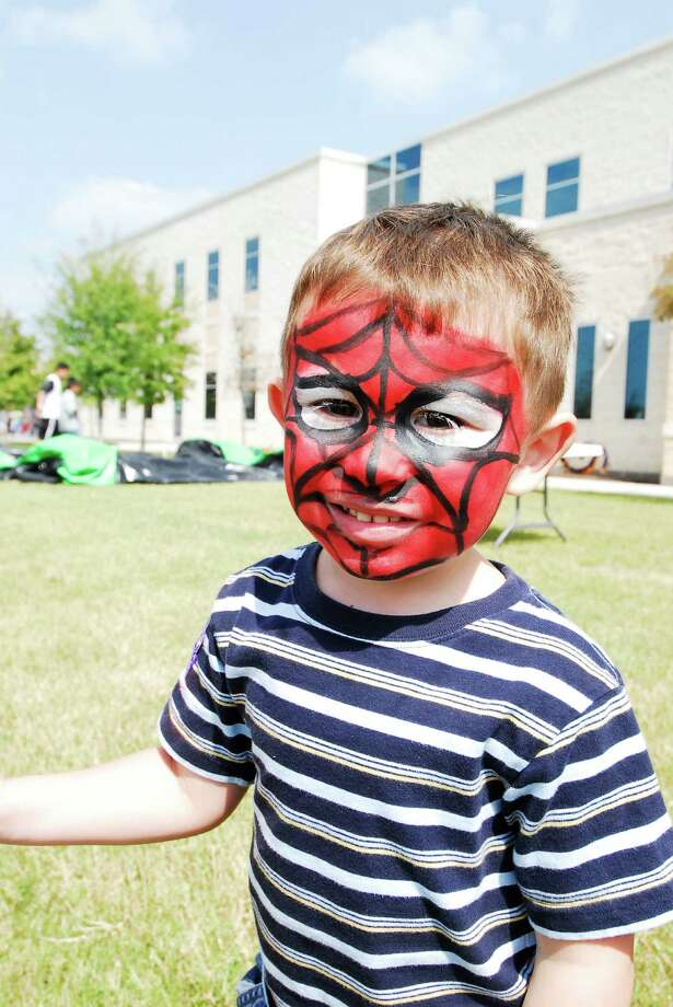 Riley Jones got his face painted as spiderman at a recent Cy-Fest. The 11th annual Cy-Fest will be Nov. 7 at Lone Star College-CyFair Center. Photo: Tony Bullard / Freelance